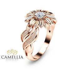 sunflower engagement ring sunflower engagement ring 14k gold