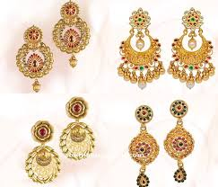 design of earrings gold earrings design from grt south india jewels
