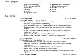 best resume format for software engineers software engineer