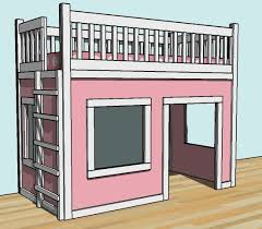 Playhouse Bunk Bed Build A Playhouse Loft Bed Free And Easy Diy Project And