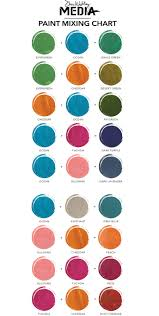 new dina wakley media paint color mixing chart ranger ink and