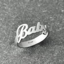 silver name rings find more rings information about custom name ring handmade ring