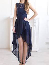 long prom dress high low prom dresses navy blue prom dresses