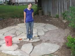 Diy Stone Patio Ideas Patio Flagstone Patio Diy Home Interior Design