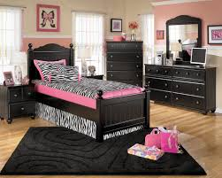 pink color combination kids room light pink paint color with dark black furniture color