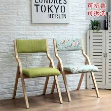 Dining Chair Fabric Solid Wood Folding Chair Dining Chair Fabric Washable Simple