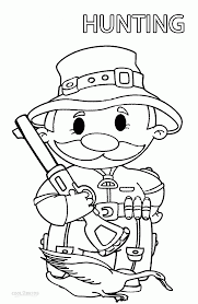deer hunting coloring pages turkey hunting coloring pages kids