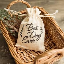 affordable wedding favors printed best day rustic burlap affordable wedding favor bags