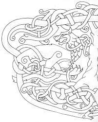 fenrir huhin mugin jormungandr yggdrasil outline a by tattoo