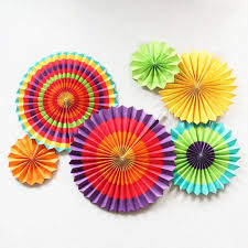hanging paper fans set of 6 colorful pinwheel craft paper fans colorful paper
