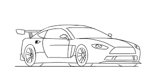 car ferrari drawing car drawing step by step how to draw a race car easy for kids