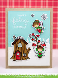 the lawn fawn blog frosty fairy friends card by melissa stinson