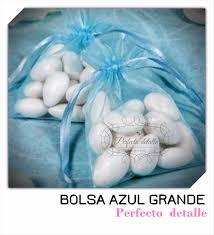 50 bolsas azules de organza grandes 10 cm x 15 cm 175 00 en