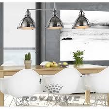 luminaire pour ilot de cuisine luminaire suspendu rectangle en métal chrome avec verres