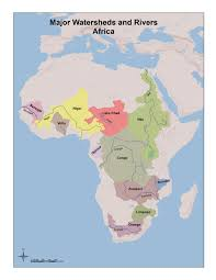 Africa Map Rivers Hydrology And World History Rivers And Watersheds For Students
