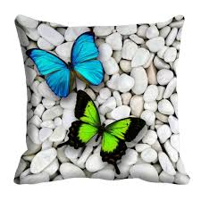mesleep colorful butterfly 3d cushion cover 16x16 set of 5