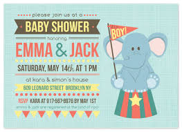 circus baby shower shower invitations baby circus at minted