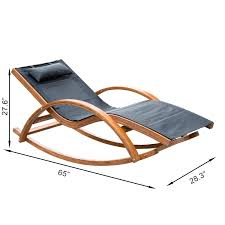 Reclining Chaise Lounge Chair Amazon Com Outsunny Rocking Mesh Patio Recliner With Cushion