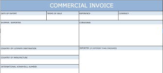 commercial invoices for exporting templates download blank international commercial invoice templates excel
