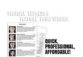 Playbill Wedding Programs Playbillder Create Your Own Playbill For Your Or Amateur