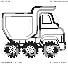 semi large truck cartoon