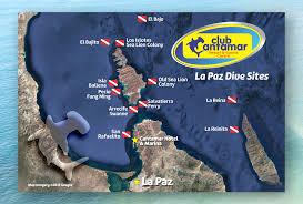 La Paz Mexico Map by Scuba Diving Sites In La Paz Baja California Sur Mexico