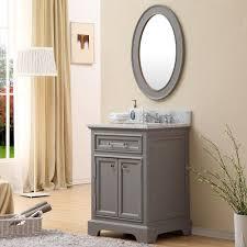 Traditional Bathroom Vanities Carenton 24 Inch Traditional Bathroom Vanity Gray Finish
