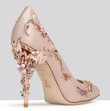 wedding shoes gold pink wedding shoes with gold heels mon cheri bridals