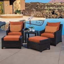 outdoor chair and ottoman set high customs