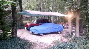 tarp carport with a frame roofline youtube