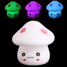 7 color changing mushroom light led lamp nightlight romantic