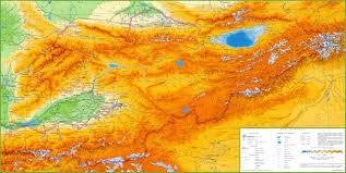 Bishkek Map Large Detailed Physical Map Of Kyrgyzstan