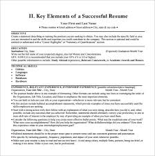 Standard Resume Template Digital Resume Template U2013 8 Free Word Excel Pdf Format Download