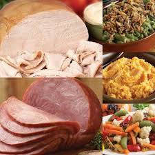 thanksgiving meals delivery turkey ham combo dinner serves 4 6
