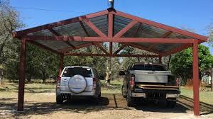 4 Car Carport Building A Metal Carport Part 2 Youtube