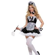 French Maid Halloween Costume Cheap French Maid Costume Deluxe Aliexpress