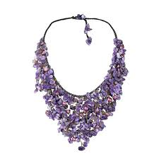 and pearl chandelier handmade amethyst and pearl chandelier necklace 5 7 mm thailand