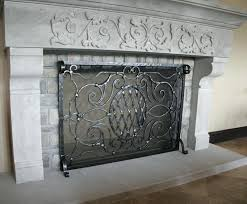 Outdoor Fireplace Accessories - small outdoor fireplace screens contemporary crest screen with