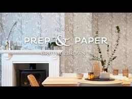 how to hang traditional wallpaper graham u0026 brown uk youtube