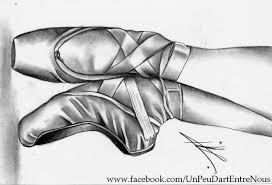 drawing ballerina pointe shoes youtube