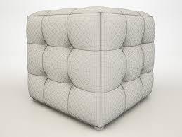 3d model apollo bronze cube ottoman cgtrader