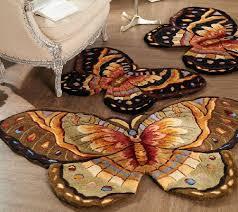 Royal Palace Handmade Rugs Royal Palace Bold Butterfly 3 U0027 X 4 U00279