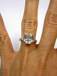vintage estate engagement rings antique 1910s 4 04ct cushion cut vintage estate solitaire