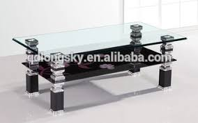Black Table Ls Ls 1004 Sale High Quality Modern Design Tempered Glass Coffee