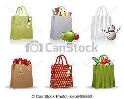 christmas shopping bags christmas shopping bag vector clipart search illustration