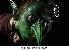stock photos of goblin with pumpkins halloween costume goblin