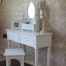 white vanity table with mirror white dressing table with mirror and stool blanche range melody