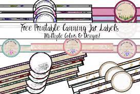 free printable canning jar labels tons of designs u0026 colors