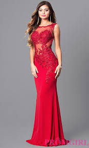 jvnx by jovani red prom dress with lace promgirl