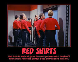 Red Shirt Star Trek Meme - speak of the devil final farewell for a red shirt